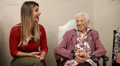 Conheça a história da boleira ponta-grossense de 105 anos - Dona Zilda tem mais de 100 anos e já fez bolo com mais de 1 metro de altura