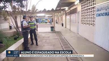 Aluno é esfaqueado dentro de escola no DF - Os dois irão trocar de turma, segundo Educação.