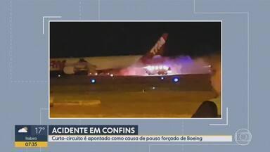 Curto-circuito causou pane em Boeing 777 da Latam que fez pouso forçado em Confins em 2018 - Cenipa investiga ocorrências na aviação para adotar medidas preventivas. Em dezembro de 2018, Confins ficou fechado por 21 horas por causa do pouso forçado; ninguém se feriu.