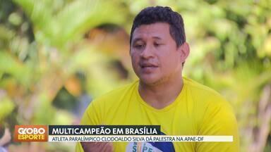 Clodoaldo Silva dá palestra em Brasília - Ex-nadador e medalhista paralímpico esteve em evento promovido pela APAE-DF.
