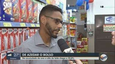 Alta do dólar influencia no aumento do preço do leite no supermercado - No acumulado de 2019 a alta do produto chegou a 20,8%.