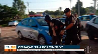 Onze são presos em operação contra o tráfico de drogas em São Francisco de Itabapoana - Ação começou nas primeiras horas da manhã desta quinta-feira (30).