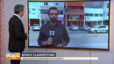 Polícia fecha casa de bingo clandestina no Guará II - Uma denúncia anônima levou a polícia a fechar uma casa onde funcionava um bingo clandestino, na quadra 40 do Guará II.