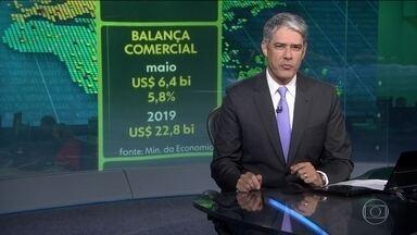 Balança Comercial brasileira fecha maio com superávit de US$ 6,4 bilhões - Saldo acumulado em 2019 é de US$ 22,8 bilhões.