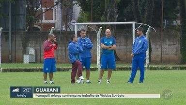 Fumagalli reforça confiança no trabalho de Vinícius Eutrópio - Superintendente de futebol do Bugre segue otimista para sequência de temporada do clube.