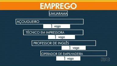 Umuarama tem 86 vagas abertas nesta terça-feira (4) - Em Paranavaí, são 26 e, em Cianorte, 28 oportunidades.