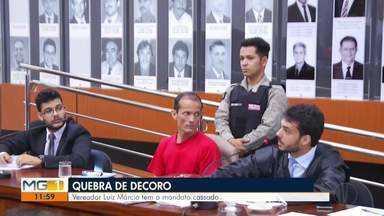 Câmara Municipal de Ipatinga cassa o mandato do vereador Luiz Márcio - Vereador Luiz Márcio (PTC) teve o mandato cassado após o julgamento na Câmara Municipal de Ipatinga.
