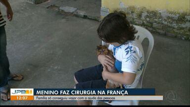 Solidariedade: menino consegue ajuda e faz cirurgia na França - Calebe tinha um tumor na cabeça.