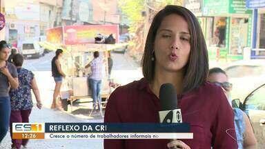 Desemprego leva trabalhadores do Sul do ES a exercerem trabalhos informais - Em Cachoeiro, o número de pessoas nessa situação cresceu 8%.