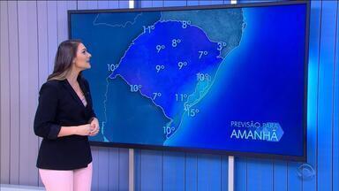 Frio se mantém nesta quarta-feira (5) pelo Rio Grande do Sul - Assista ao vídeo.
