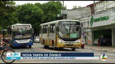 Novo preço da passagem de ônibus de Belém entra em vigor nesta quarta-feira, 5 - Taxa agora será de R$ 3,60 com meia passagem a R$ 1,80.