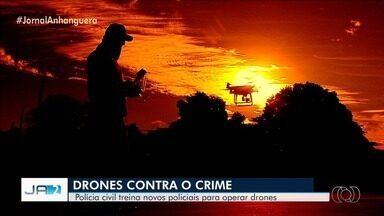 Polícia Civil forma novos instrutores do esquadrão do drone, em Goiás - São agentes especializados em operações com o equipamento que está ajudando no combate ao crime organizado.