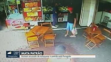 Polícia procura homem acusado de assassinar o patrão - José dos Santos teria esfaqueado Francisco Bezerra no bar em que eles trabalhavam, após o patrão negar um aumento de salário.