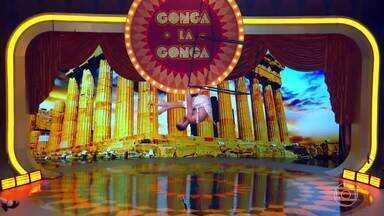 A primeira atração do Gonga La Gonga é o 'Cubo Suspenso' - A atração ganha boas notas dos jurados