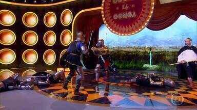 Luís Miranda gonga a apresentação 'Espada de Prata' no Gonga La Gonga - Os jurados não aprovaram a performance