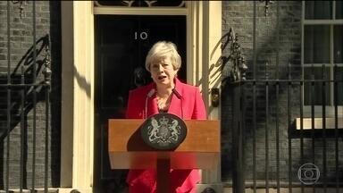Theresa May confirma a renúncia à liderança do partido conservador - É o movimento prévio para que ela deixe o cargo de chefe de governo.