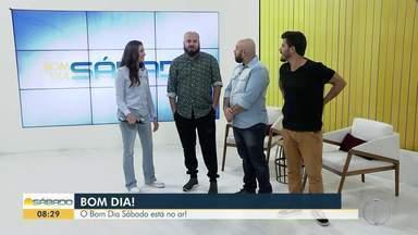 """BDS recebe a visita de Paulinho Serra e Max Magalhães, do grupo """"Palavas Improvisadas"""" - Atores se apresentaram em São Pedro da Aldeia nesta sexta-feira (7)."""