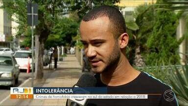 Crimes de homofobia crescem no Sul do Rio em relação a 2018 - Agressões físicas, verbais e até homicídios assustam a população LGBT.