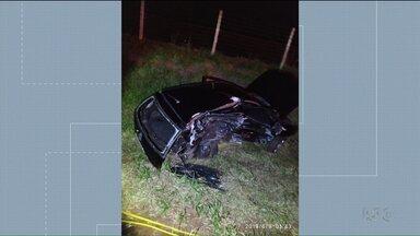 Duas pessoas morrem em acidente na PR-218 - Foi na madrugada de domingo, em Arapongas.