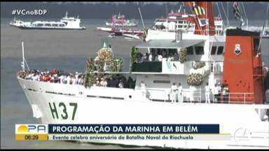 Marinha comemora a batalha do Riachuelo, contra o Paraguai, com ação social - Navios estiveram aberto para visitação no domingo