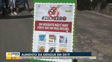Casos de dengue aumentam; números são 12,25% maiores que no mesmo período do ano passado - Esse ano já são mais de 5 mil casos prováveis de dengue na Paraíba.