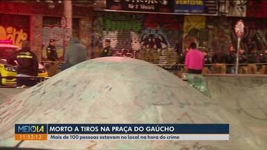 Jovem é morto a tiros na Praça do Gaúcho - Crime foi ontem (9) à noite.
