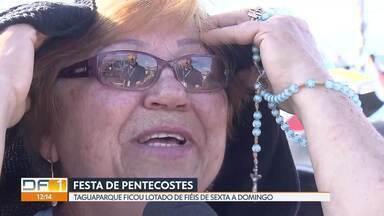 Festa de Pentecostes lota o Taguaparque - Mais de 250 mil pessoas se reuniram no Taguaparque no fim de semana. Nem o sol forte desanimou os fiéis.