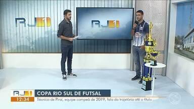 Técnico de Piraí fala da trajetória da equipe até a taça da Copa Rio Sul de Futsal 2019 - Equipe foi a campeã grande campeã da 27ª edição no último sábado.
