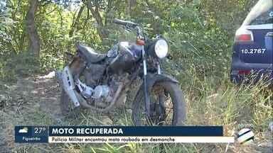 PM recupera moto roubada em Campo Grande - Suspeita é de que veículo era usado em assaltos.