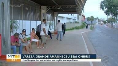 Paralisação dos motoristas de ônibus em Várzea Grande - Paralisação dos motoristas de ônibus em Várzea Grande.