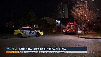 Polícia surpreende ladrões que roubavam entregadores de pizza - Um deles foi morto durante confronto.