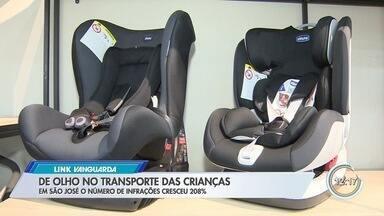 Multas por transporte de criança sem cadeirinha no carro aumenta em São José - Congresso discute um projeto do governo federal que alivia punição para quem comete a irregularidade.