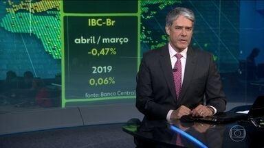 Economia brasileira encolhe 0,47% em abril - No ano, o IBC-Br está quase estável.