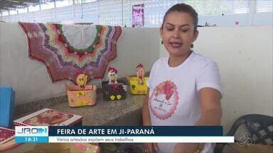 Feira de Arte em Ji-Paraná - A feira reuniu vários trabalhos de artesãos da região.