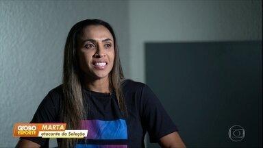 Em entrevista ao Fantástico, Marta pede direitos iguais para homens e mulheres - Em entrevista ao Fantástico, Marta pede direitos iguais para homens e mulheres