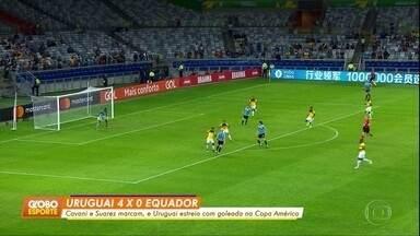 No Mineirão, Uruguai goleia o Equador por 4 a 0 - No Mineirão, Uruguai goleia o Equador por 4 a 0