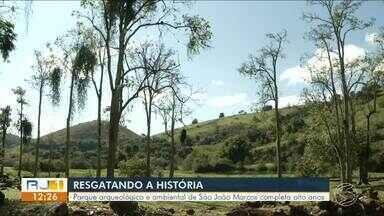 Parque arqueológico e ambiental de São João Marcos completa oito anos - Além das belezas naturais e contato com a natureza, o espaço ajuda a contar a história do lugar.