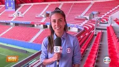Seleção feminina de futebol se prepara para a partida de amanhã, contra a Itália - Seleção feminina de futebol se prepara para a partida de amanhã, contra a Itália