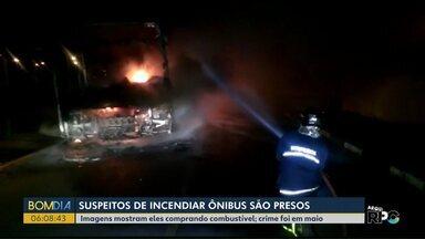 Suspeitos de incendiar ônibus são presos - Crime foi no mês passado em Toledo.