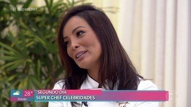 Nakamura conta que fez comida para o namorado depois da primeira prova - Ana Maria Braga recebe os participantes do 'Super Chef Celebridades 2019'