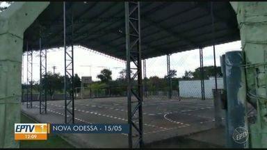 'Até Quando?': Prefeitura cumpre prazo e soluciona problemas em quadra de Nova Odessa - Quadra poliesportiva no Bairro Marajoara, em Nova Odessa (SP), recebeu reparos da Prefeitura.
