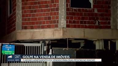 Incorporadora vende apartamentos para mais de um comprador no Riacho Fundo - A obra deveria ter terminado em dezembro do ano passado. Uma das vítimas pagou mais de R$ 100 mil para a incorporadora.