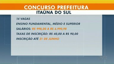 Prefeitura de Itaúna abre concurso público para preencher 14 vagas - Entre as oportunidades, vagas para enfermeiro e médico.