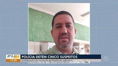 Suspeitos de envolvimento na morte de motorista de aplicativo são detidos - Luciano Galindo, de 42 anos, foi assassinado no último fim de semana.