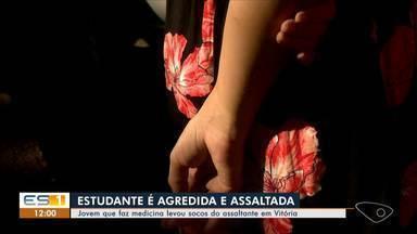Estudante é agredida e tem carro levado por asaltantes em Vitória - Os criminosos foram presos.