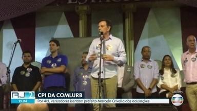 CPI da Comlurb isenta Marcelo Crivella - Por 4 x 1, vereadores dizem somente os funcionários do companhia de limpeza urbana são culpados. Prefeito pediu votos para o filho durante o evento