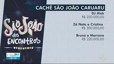 Cachês dos artistas que fazem parte do São João Caruaru são divulgados - Marília Mendonça recebeu 300 mil reais para se apresentar na festa.
