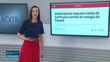 Conta de luz vai ficar mais cara no Paraná - Consumidores atendidos pela Copel terão tarifas reajustadas a partir do dia 24 de junho. Reajuste para consumidores residenciais será de 1,85%.