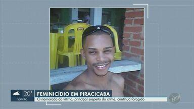 Jovem morta enforcada é enterrada em Piracicaba, nesta terça-feira - Namorado dela, principal suspeito do crime, está foragido.