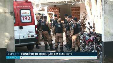 Polícia impede rebelião em Cianorte - Com capacidade para 74 presos, cadeia tem hoje 296 segundo o Depen.